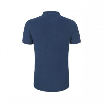 Wolff Vintage Men Poloshirt Daniel Farbe Indigo Dark Denim Material Cotton Biobaumwolle Fair Wear Ansicht Rückseite