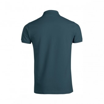 Wolff Vintage Men Poloshirt Finley Farbe Graugrün Material Cotton Biobaumwolle Fair Wear Ansicht Rückseite