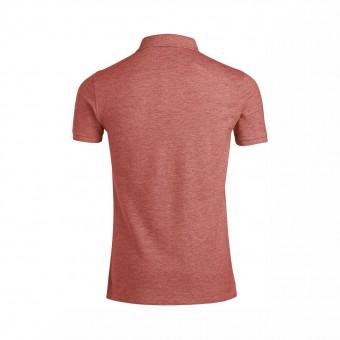Wolff Vintage Men Poloshirt Finley Farbe Rotgrau Material Cotton Biobaumwolle Fair Wear Ansicht Rückseite