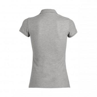 Wolff Vintage Women Poloshirt Britt Farbe Grau Material Cotton Biobaumwolle Fair Wear Ansicht Rückseite