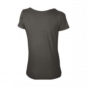Wolff Vintage Women T-Shirt Ella Farbe antrazit Material Cotton Biobaumwolle Fair Wear Ansicht Rückseite